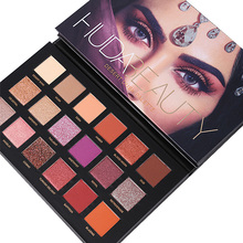 Makeup Huda Beauty Palette Eyeshadow 18 Colors DESERT Matte Glitter Set