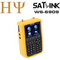 Оригинал Satlink WS 6909 3.5 DVB S & dvb t Combo спутниковое метр спутниковый искатель 6909 SATLINK WS6909