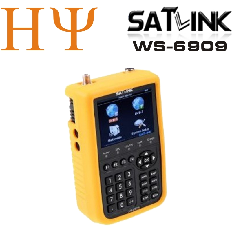 Original Satlink WS-6909 3.5 DVB-S & DVB-T Combo satellite meter satellite finder 6909 satlink ws6909 satlink ws 6979se dvb s2 dvb t2 mpeg4 hd combo spectrum satellite meter finder satlink ws6979se meter pk ws 6979