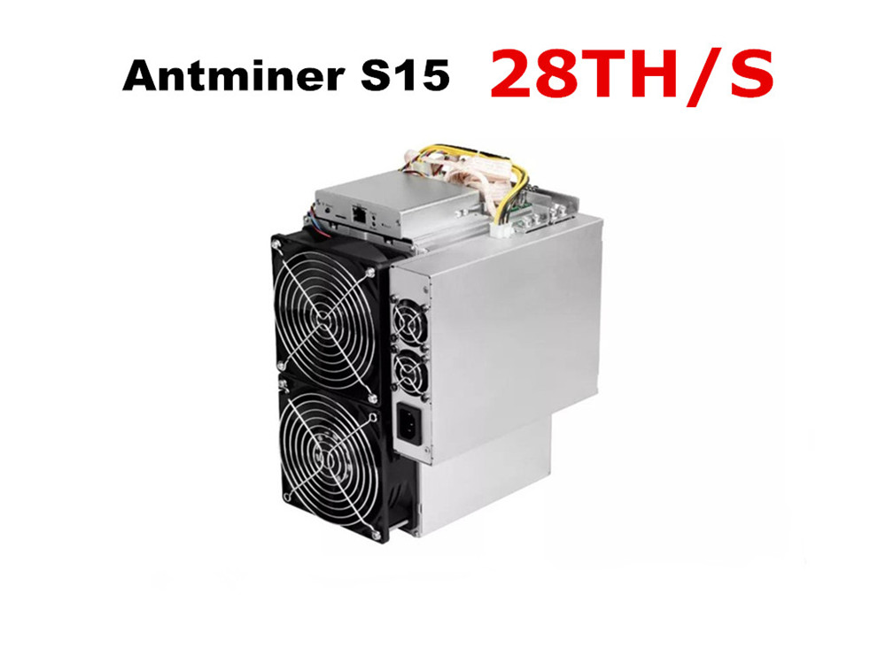 BITMAIN 7nm BTC BCH Miner Used AntMiner S15 28T With PSU Better Than S9 S9j Z9 Mini WhatsMiner M3 M10 1