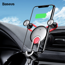Baseus Gravity Car Phone Holder For iPhone Xs Max Xr X 8 Car Mount Holder For Phone in Car Air Vent Holder For Samung S10 Xiaomi