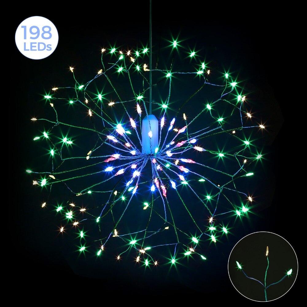 198leds Starburst String Lights Led Fairy Lights Unique