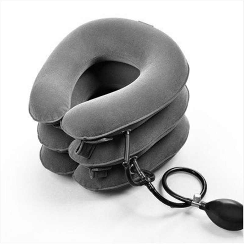 Inflatable Traction Therapy Cervical Collar Vertebra Orthopedics Manual Massager