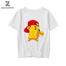 Fashion T-Shirt Pikachu Cute Women Big Plus Size Tshirt Femme Print T Shirt Top White Female Tops Short Tee Shirt Funny Girl