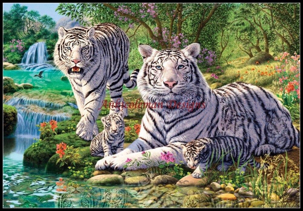 Рукоделие для вышивания сделай сам DMC высокое качество-счетный крест Наборы 14 CT картина маслом-Тигр Nirvana