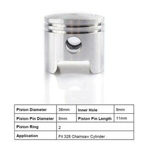 Image 2 - CMCP 36mm pierścień tłokowy cylindra zestaw pasuje do piły łańcuchowej 328 zestaw pierścieni tłokowych zestaw przypinek części zamienne do piły łańcuchowej