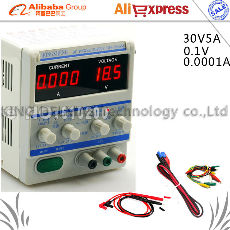 305AM 30V 5A 0.1V/0.001mA High precision Professional Adjustable Digital DC Power Supply for Laptop phone repair power supply kuaiqu high precision adjustable digital dc power supply 60v 5a for for mobile phone repair laboratory equipment maintenance