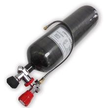 Innovation 2017 New Updated 6.8L 60minutes air bottle&Gauge valve & fill station PCP airsoft tank carbon fiber gas cylinder --V