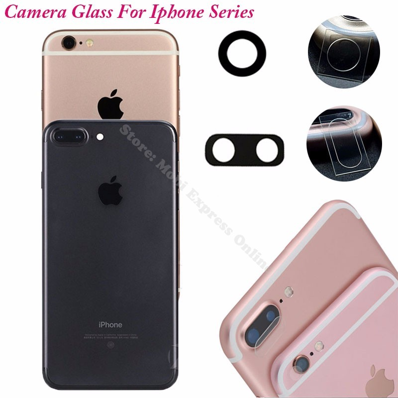 big sale ec404 c156f US $1.23 5% OFF|For Apple Iphone 7/5s/6/6s/Plus/5/4s/4 Camera Glass  Replacement Back Lens Cover Protector Tempered Glass Sticker Accessories-in  Fitted ...