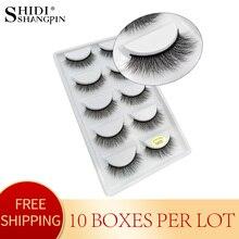 Pestañas de visón 3D, pestañas postizas de visón Sin crueldad, hechas a mano, reutilizables, naturales, maquillaje, 50 pares, G805