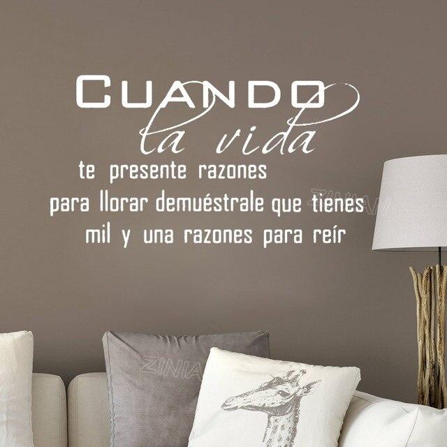 Cuando Spanish Language Wall Quote Decal Living Room Home Interior Decor Life Quotes Vinyl Art