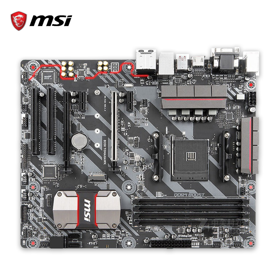 MSI B350 TOMAHAWK Original New Desktop Motherboard B350 Socket AM4 DDR4 64G USB3.1 ATX