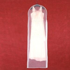 Image 1 - 2 Mặt Trong Suốt Voan Pha Lê Sợi Cưới Đầm Cô Dâu Bụi Có Dây Kéo Cho Gia Đình Tủ Quần Áo Váy Bầu Túi Bảo Quản AC018
