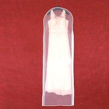 両面透明チュールクリスタル糸ウェディングブライダルドレスのダストカバーとジッパー家庭用ワードローブガウン収納袋 AC018
