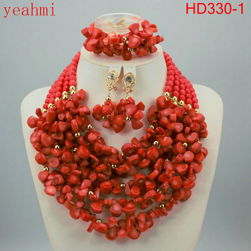 Nigerian Wedding African Beads Jewelry Set Blue African Costume Jewelry Sets Coral Beads Necklace Sets Free Shipping HD330-1 costume african red coral beads necklace bracelet earrings jewelry set nigerian wedding jewelry sets free shipping cj240