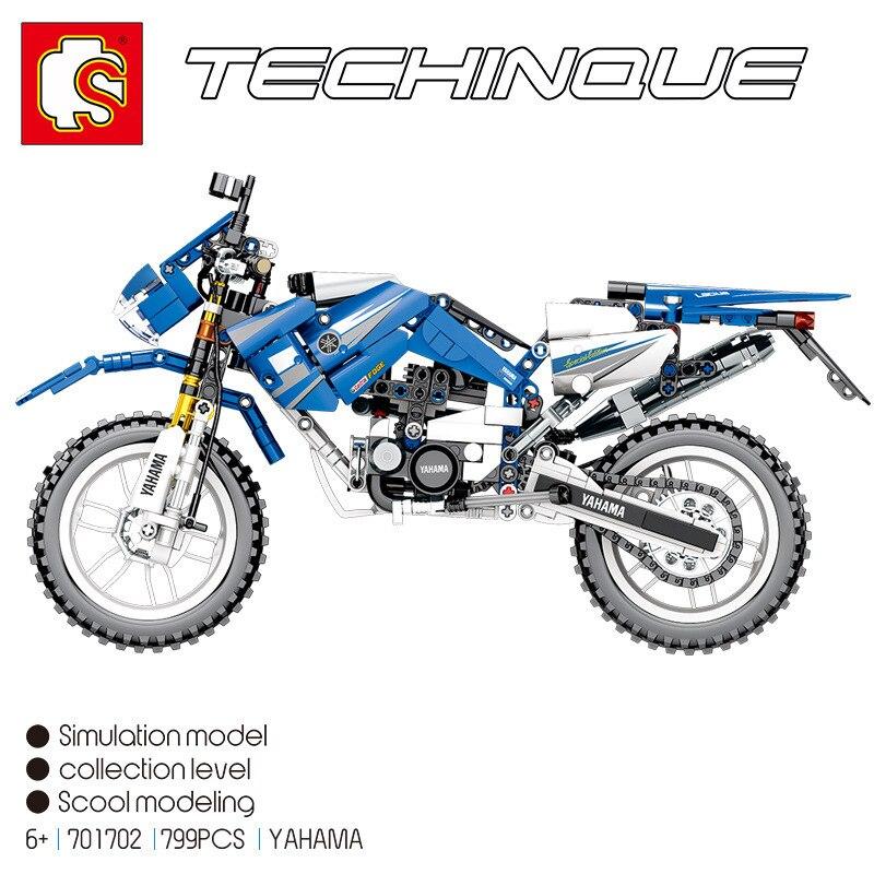 Sembo 701702 799 Pcs Technic Serie Motorfiets Bouwstenen Bakstenen Educatief Motorbike Model Kinderen speelgoed-in Blokken Stapelen van Speelgoed & Hobbies op  Groep 2