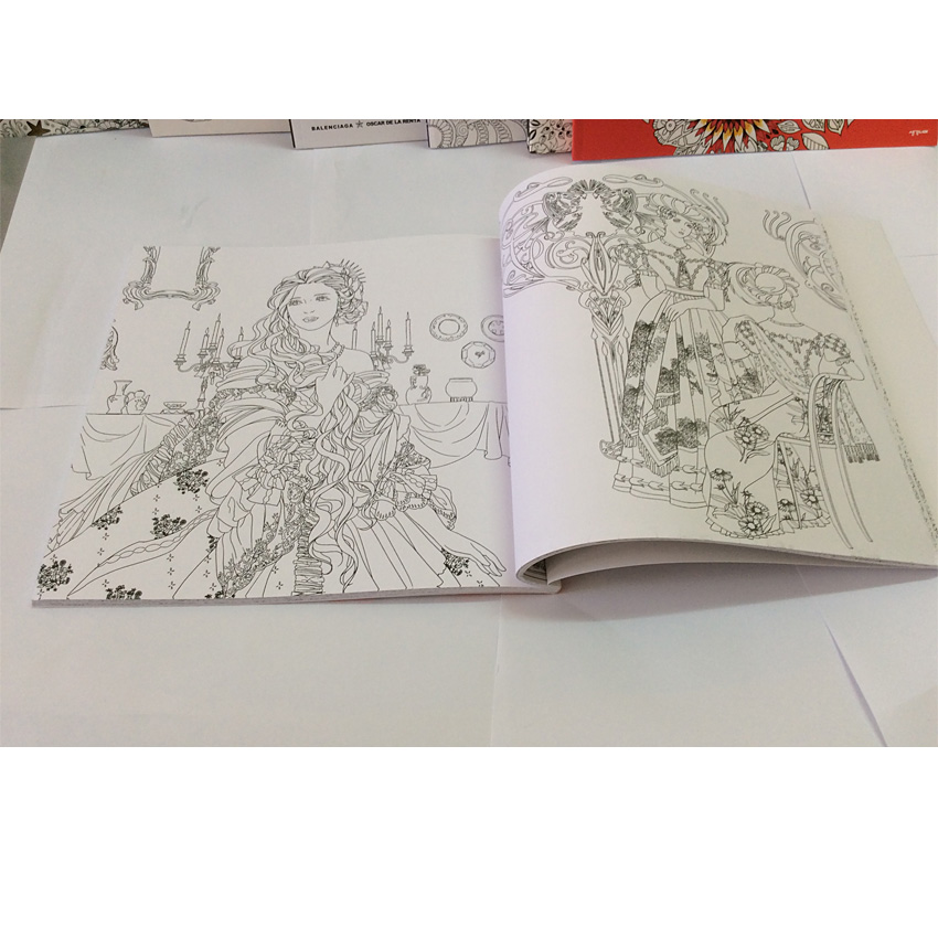 84pages Beauty And The Beast Coloring Book For Adults Comic Books Relieve Stress Secret Garden Children Art In From Office School