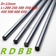 12 мм линейный вал 200 250 300 339 350 400 500 600 650 700 800 мм хромированные из закаленной Род линейного движения вала ЧПУ части 3d принтера