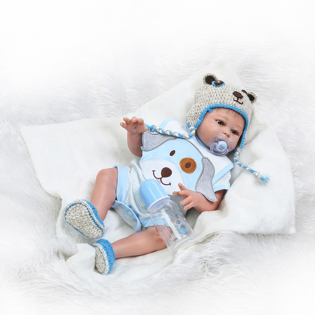 Enfants Silicone souple réaliste avec des vêtements garçon Reborn bébé de collection, cadeau, Playmate 2-4 ans poupée