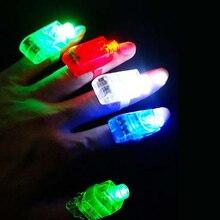СВЕТОДИОДНЫЕ Лазерные Пальцы Гаджета Партии Ночной Клуб Glow Light Ring Torch Fun Украшения