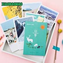 30 pcs/lot Cute cartoon painting Four Seasons postcard greeting card christmas card birthday card creative gift cards stationery