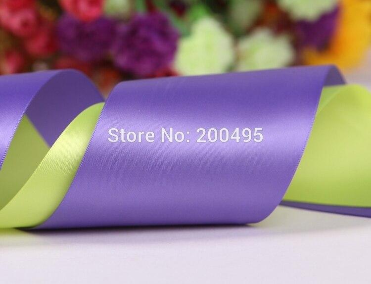 """[IuBuFiGo] """"(75 мм) двусторонняя атласная лента для свадьбы сатин 100 ярдов/лот"""