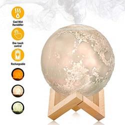 880 ミリリットルの空気加湿器アロマディフューザー 880 ミリリットル満月ランプ、 LED 月面ナイト精油ナイトクールミスト清浄ワット