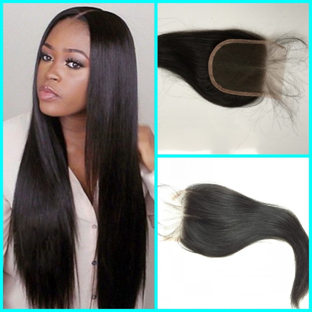 Indian Lace Closure 6a Unprocessed Raw Indian Hair Closures Straight