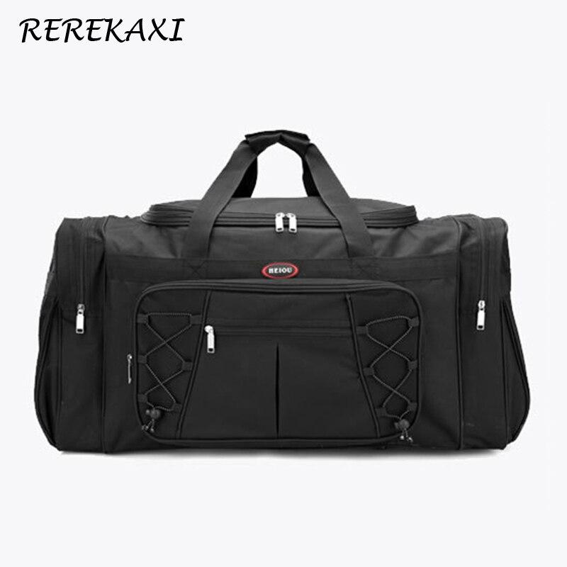 REREKAXI sac de voyage pour hommes de grande capacité sac de bagage à main en Polyester imperméable pour femmes sacs de voyage pour hommes Cubes d'emballage