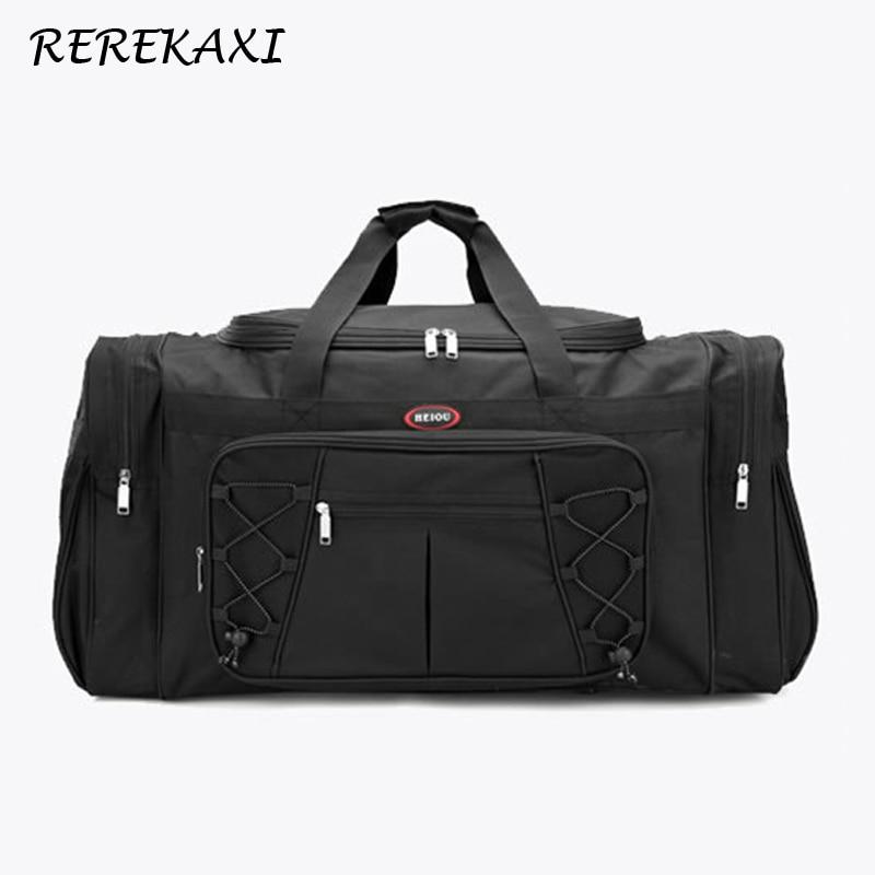 REREKAXI, Большая вместительная мужская дорожная сумка, Женская водонепроницаемая Полиэфирная Сумка для ручной клади, мужские дорожные сумки для путешествий, упаковочные кубики