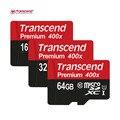 Genuino original transcend 16 gb 32 gb 64 gb microsd microsdhc microsdxc micro SD 64G SDXC clase 10 UHS-1 400X Tarjeta de Memoria TF tarjeta