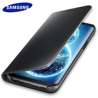 Original Samsung Galaxy S8 S 8 Plus Mirror Flip Case Cover 360 Cute Shockproof Leather Armor Luxury Smart Clear View Standing