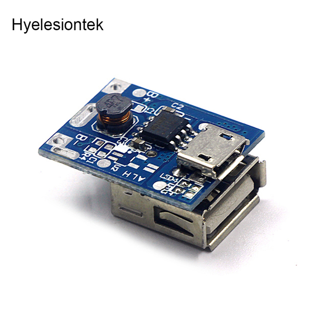 5V 1A Step-Up Power Module Li-Po Li-ion Lithium Battery Charging Protection Board Booster Converter Micro USB DIY Charger 134N3P