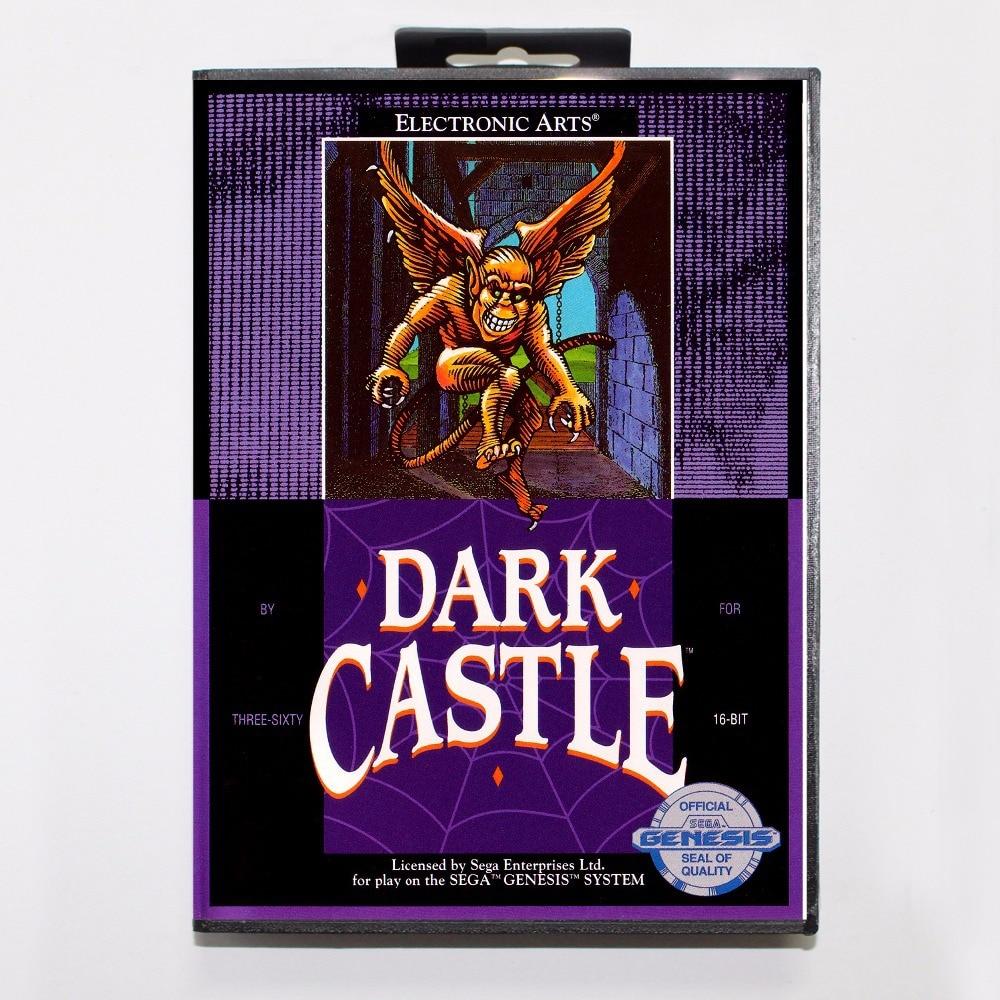 Dark Castle Game Cartridge 16 bit MD Game Card With Retail Box For Sega Mega Drive For Genesis