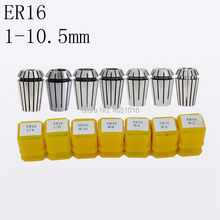 ER16 1-10.5MM1/41/8 high precision engraving machine chuck computer numerical control fittings ER16 spring chuck precision 0.015 7pcs set er16 1 32 3 8 spring collet precision spring chuck set 7 types cnc engraving machine