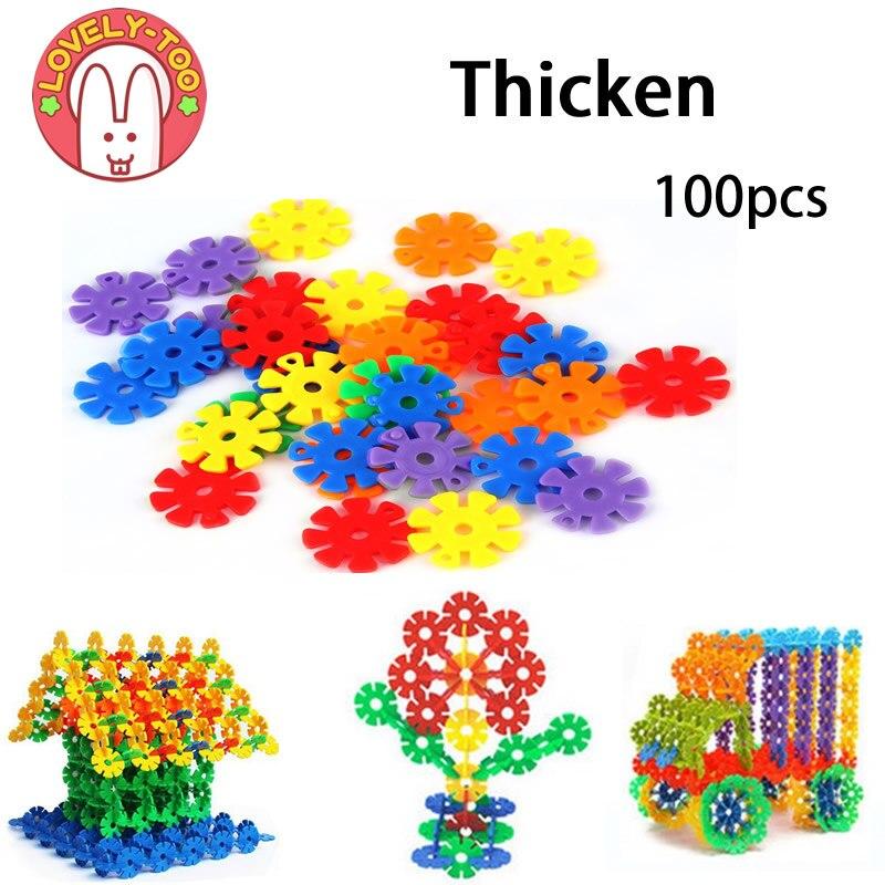 Lovely Too 100PCS Snow Snowflake Building Blocks Toy Bricks DIY Assembling Early Educational Learning Classic Toys Kids Gift блок питания atx 600 вт exegate atx xp600 ex219465rus