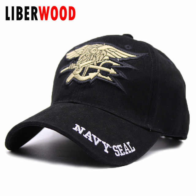 United States US Navy Seal Hats Cap Embroidery Trident Tactical Army Summer Baseball Caps