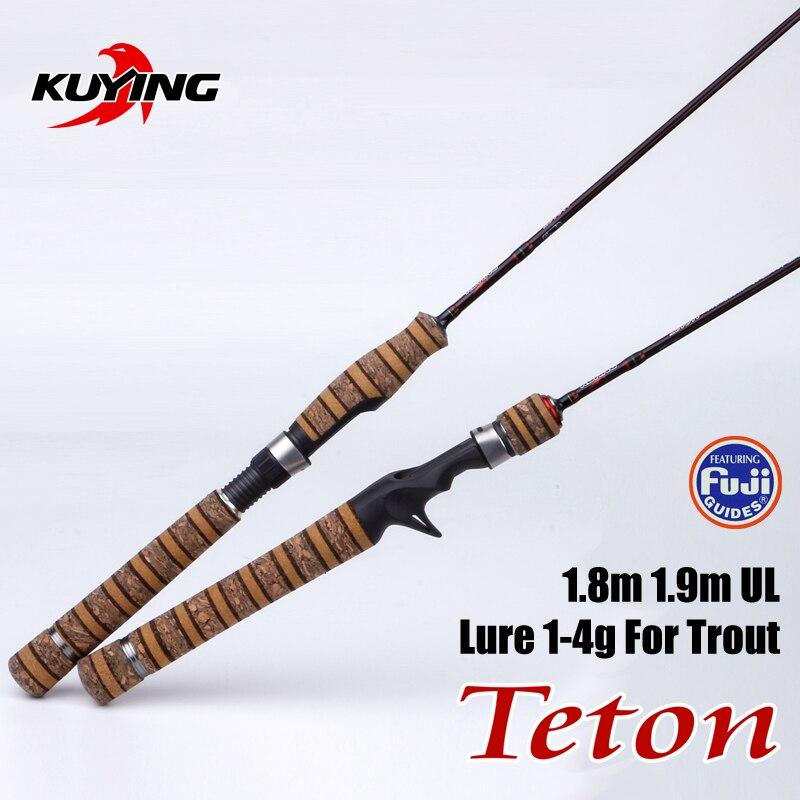 1 9m Ultra Light Casting Spinning UL Teton Lure Fishing Rod With FUJI Parts
