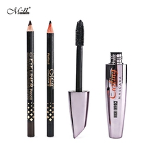 M.n Menow M12002 Portable Professional Eyes Makeup Tools Kits Waterproof Thick Mascara With Black Coffee 2 Color Eyeliner Sets
