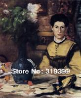 Peinture à l'huile Reproduction sur Toile de Lin, Madame de Rutte by edgar degas, Livraison DHL Expédition RAPIDE, 100% main