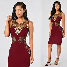 Women Lady Summer Floral Casual Sleeveless Lace Dress Ladies Evening Party Short