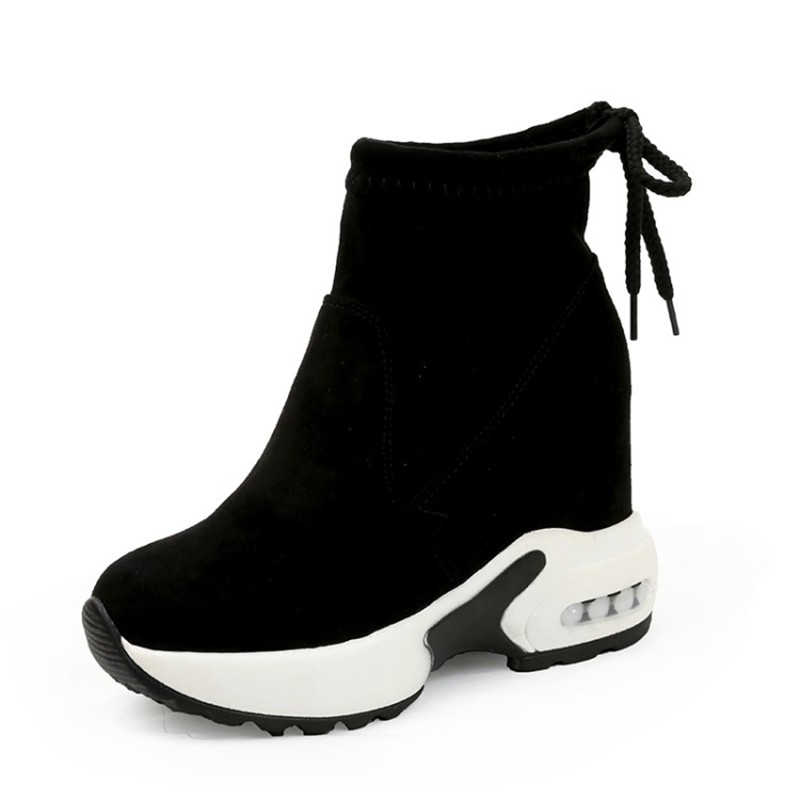 COOTELILI Fashion Increasing Shoes Women High Heels Ankle Boots For Women Autumn Winter Rubber Boots Women Pumps Ladies 35-39 (4)