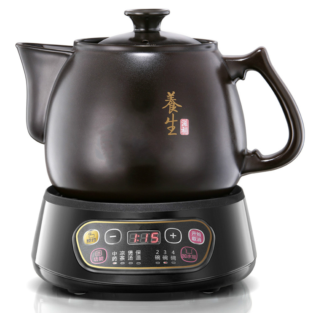 Full automatic Chinese herbal medicine medicine boil electric sand pot/electric kettle Anti-dry Protection automatic decocting pot chinese medicine pot medicine casserole ceramic electronic medicine pot medicine pot electric kettle