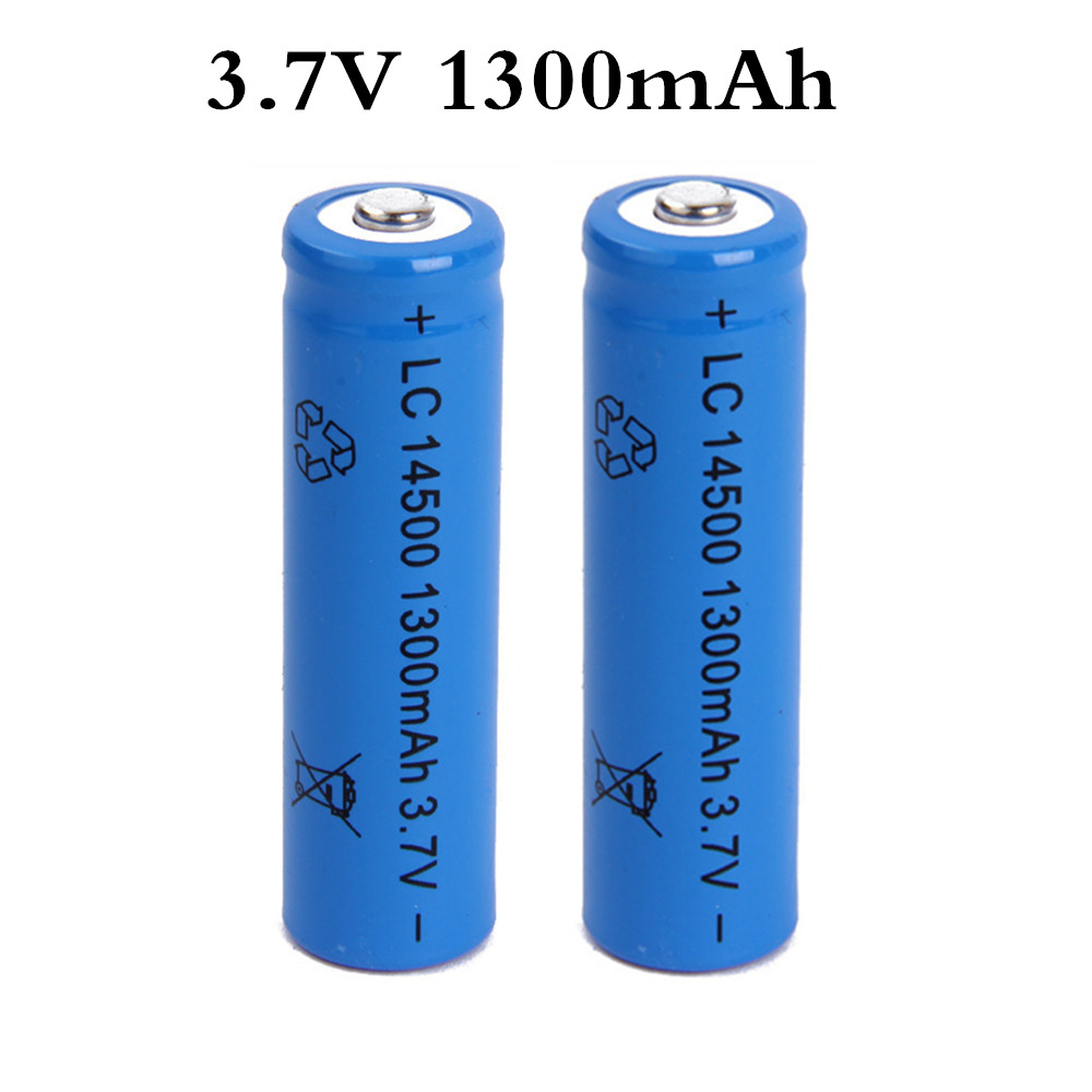 14500 Battery 3.7V 1300mAh Rechargeable Li-ion Battery For For Toy Car/boat/trucks/tank Batery Litio AA Battery Newest