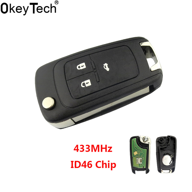 Okeytech New 433mhz Id46 Transponder Chip 3 Buttons Complete Car