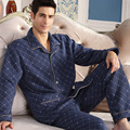 2016 winter pajamas fashional patchwork men pajama set for lovers kintted women homewear