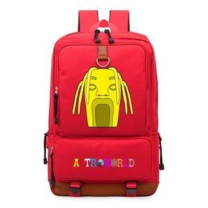 Image 2 - WISHOT   Travis Scotts ASTROWORLD  Backpack Shoulder travel School Bag Bookbag for teenagers men women  Casual Laptop Bags