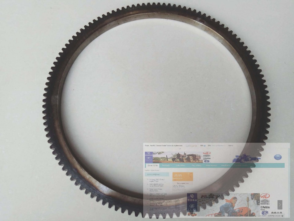 Jiangdong TY395IT engine parts, the gear rings (117 teeth), part number: luoyang yto engine lr4108t53 parts the set of piston rings part number rb 050002 1 03 1 0200 1