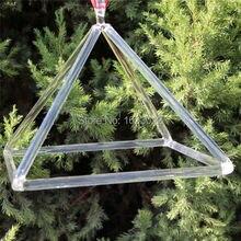6 дюймов и 11 дюймов кварцевый прозрачный кристалл пирамида для исцеления