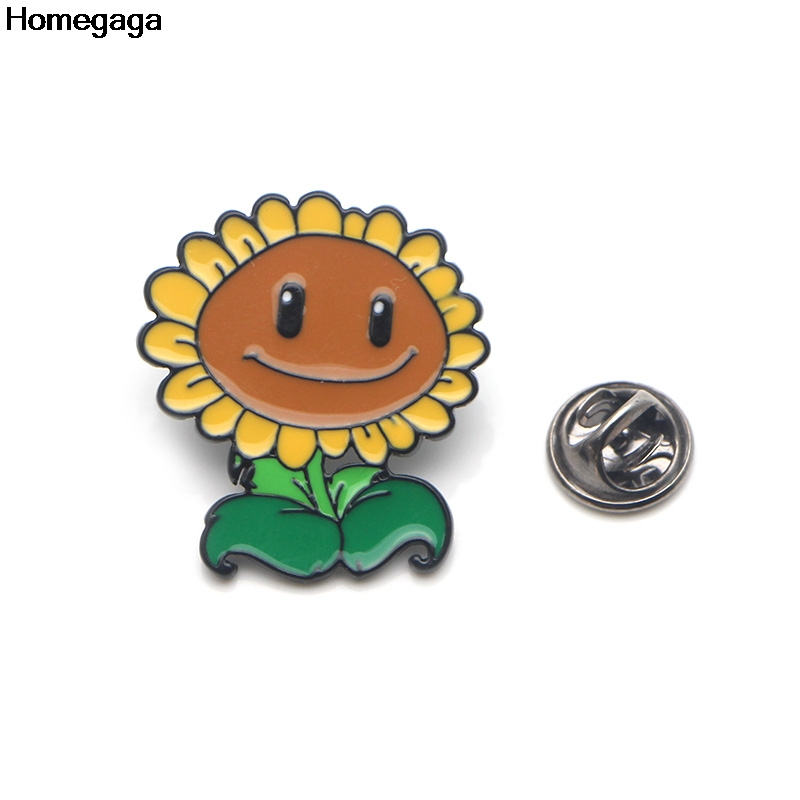 Homegaga Plants vs Zombies Zinc tie cartoon Funny Pins backpack clothes brooches for men women hat decoration badges medal D2037 in Badges from Home Garden